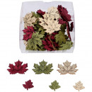 Wood Maple Leaf Fitz, to sprinkle, 72 pieces per B